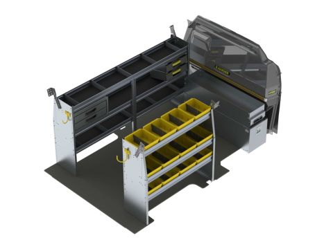Aluminum Van Shelving Package, Ford Transit Low Roof