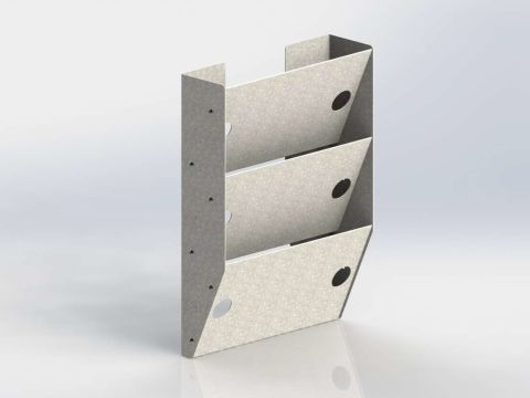 Paper Holder, Extra Deep, 3 Slots