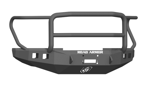 Front Stealth Winch Bumper, Lonestar Guard, Satin Black