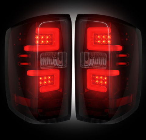 LED Tail Lights - Red Smoked