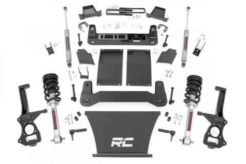 6in Suspension Lift Kit (2019 Chevy 1500 PU 4WD/2WD) Lifted Struts, N3 Shocks