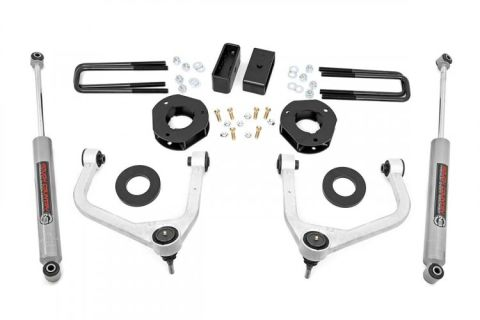 3.5in Suspension Lift Kit w/ Forged Upper Control Arms (2019 GMC 1500 PU 4WD)