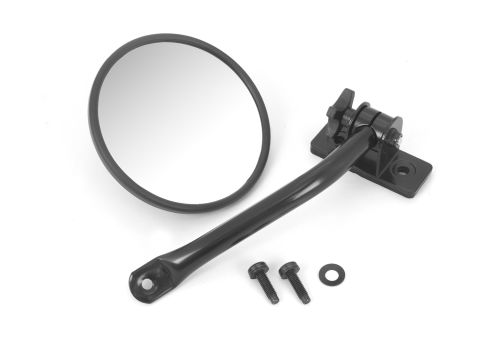 Quick Release Mirror Relocation Kit, Black; 97-18 Jeep Wrangler