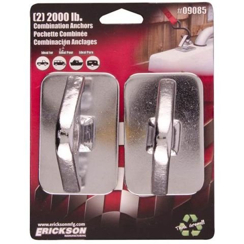 (2) 2000 lb Chrome Combination (Rope & Hooks)