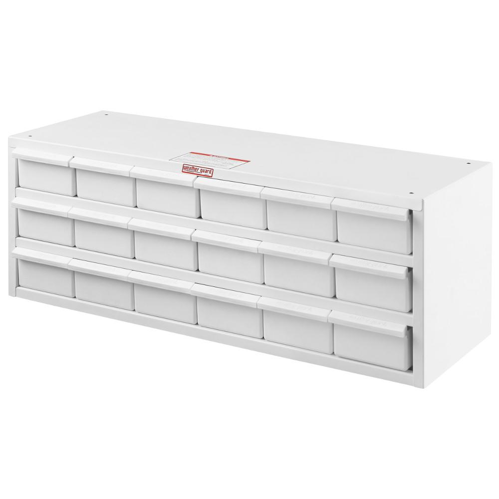Model 9918-3-02 Parts Cabinet, 18 Bin, 12 in x 32 in x 12 in